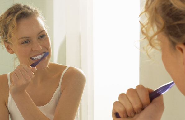 Professionelle Zahnreinigung.